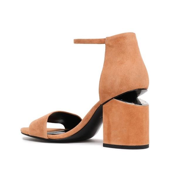 Alexander Wang Shoes - Alexander Wang Abby Suede Tilt-Heel City Sandal
